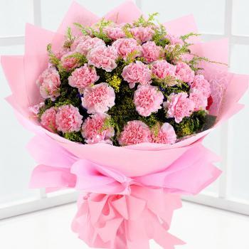 感恩礼赞-19枝粉色康乃馨花束