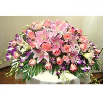 商务桌花-百合玫瑰洋兰