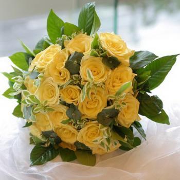 新娘手捧花-黄玫瑰