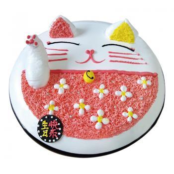 蛋糕 招财猫