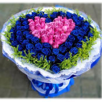 一生挚爱-99朵玫瑰花束