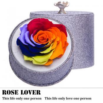 永生花 厄瓜多尔进口巨形玫瑰 高档礼盒装