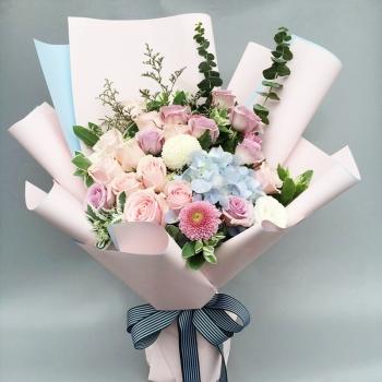 一往情深-韩式花束