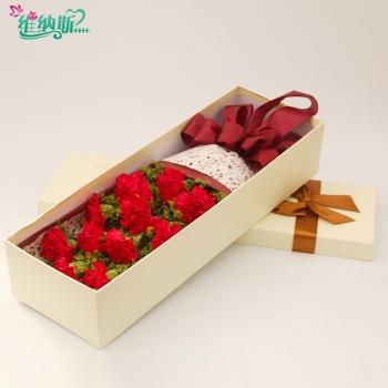 11枝红色康乃馨礼盒
