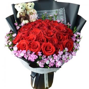 情定一生-33朵红玫瑰花束