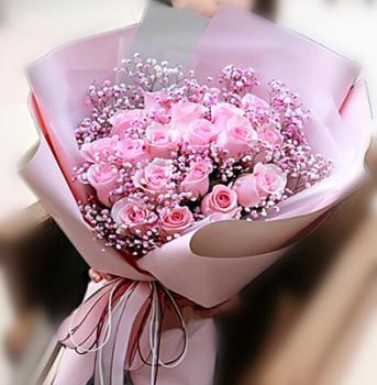 粉玫天星-19朵粉玫瑰