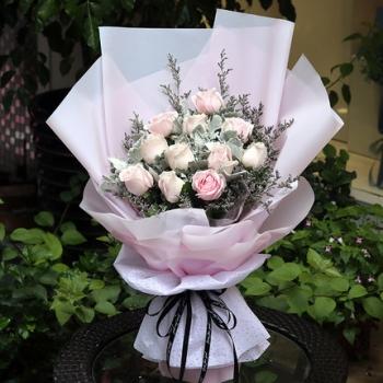 粉雪山A款-19朵玫瑰