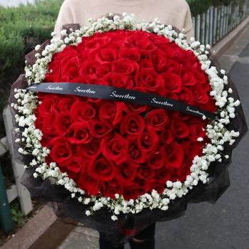 一见倾心-99朵红玫瑰花束