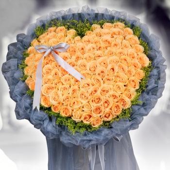 魂牵梦萦-99朵香槟玫瑰