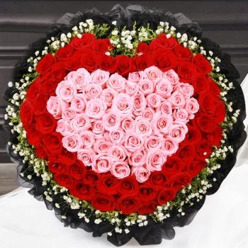 一见倾心-99朵混色玫瑰
