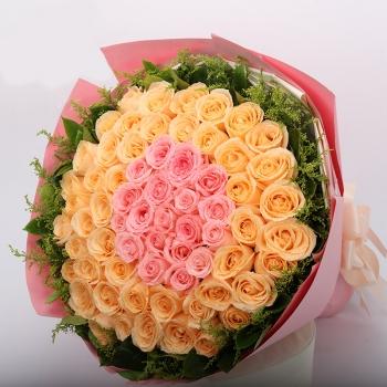 倾城之恋-66朵混搭玫瑰