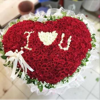 永恒之恋-999朵混搭玫瑰