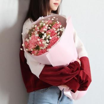 爱的祝福-19朵粉康乃馨