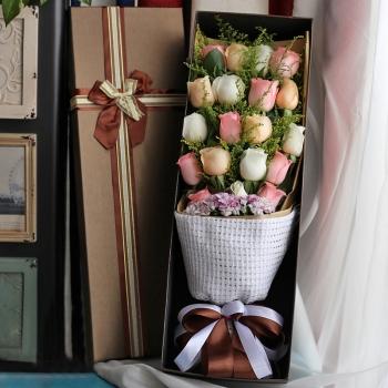 幸福爱恋-19朵混搭玫瑰礼盒