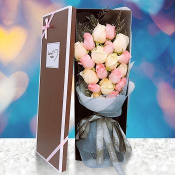 五彩缤纷-19朵混搭玫瑰礼盒