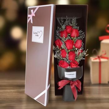 珍贵如你-11朵红玫瑰礼盒