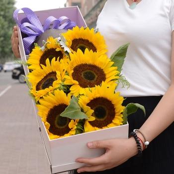 心随你动-6朵向日葵礼盒