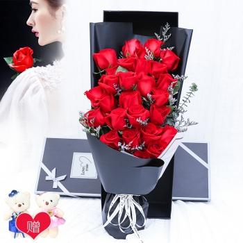 浪漫之心-33枝红玫瑰礼盒