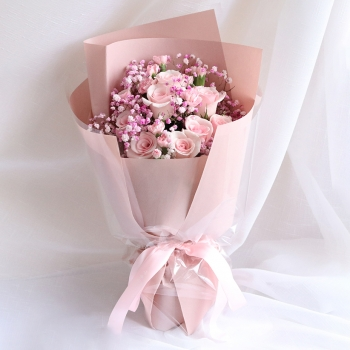 诗意情怀-11朵戴安娜玫瑰花束