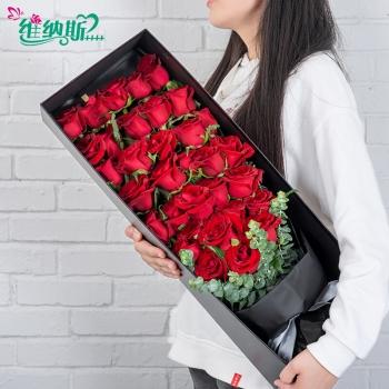 炙熱永愛-33朵紅玫瑰禮盒