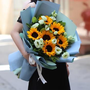 恋恋不舍-6朵向日葵花束