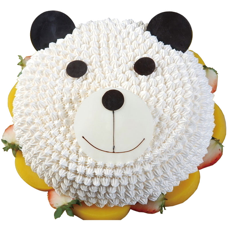 商品品牌:普通蛋糕 商品描述:可爱小熊形状奶油蛋糕
