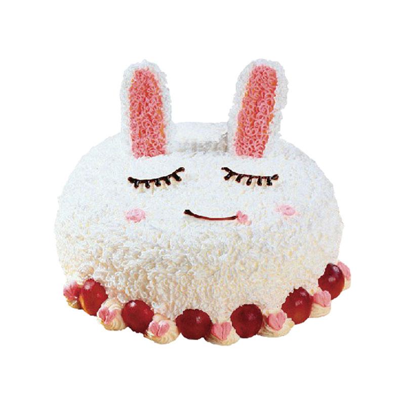 商品品牌:普通蛋糕 商品描述:可爱小兔形状蛋糕
