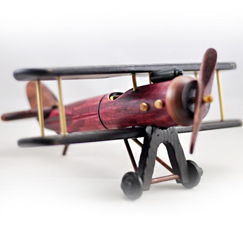 复古小飞机双翼机模型